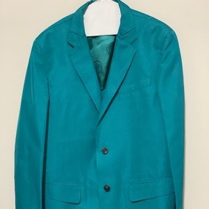 Versace Mainline Couture Teal 2 Button Sportcoat